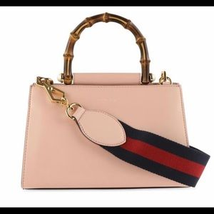 Gucci #470271 Nympheae Bamboo Handle Leather Bag